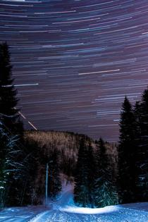 hour star exposure on a ski trail in Norway