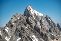 hours of climbing with camera gear to get this shot of the Grand Teton from the summit of the South Teton in Wyoming  ZachOnEverest