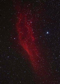 hours of tracked and stacked exposures on the California Nebula