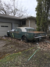 I think mustang rotting away at a abandoned house in Oregon also a  bronco around back in similar shape