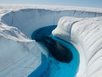 Ice Canyon Greenland James Balog  National