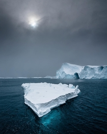 Iceberg upon Disko Bay Greenland