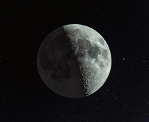 illuminated Moon  three photo composite