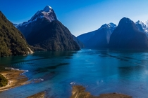 Inhabitants  visitors per year I too took a picture of New Zealands Milford Sound