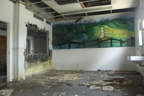 Interesting mural found in a wet and humid Florida insane asylum