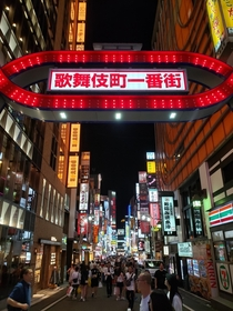 Kabukicho Shinjuku Japan on a Monday night June