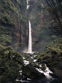 Kapas Biru Waterfall East Java Indonesia x