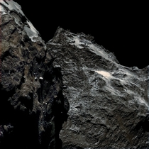 Kilometers above Comet Churyumov-Gerasimenko