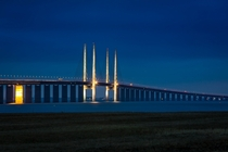 km long connects Sweden and Denmark - The resund Bridge from Malm Sweden