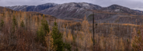 Last day of catching the Autumn Colors The Larch trees dropped most of their needles that night in our first real snowstorm of the season Foreground is National Forest along the North Fork of the Flathead River in the distance is the Southwest border of