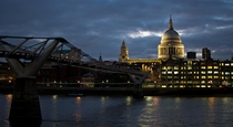 London Millennium Bridge and St Pauls Cathedral