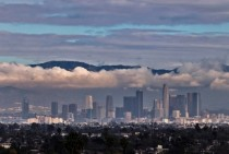Los Angeles skyline on January