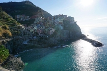 Manarola part of Cinque Terre in Liguria Italy