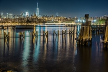 Manhattan from Williamsburg last night x