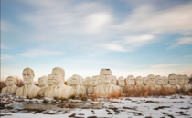 Massive Presidential Busts Sitting Abandoned in a Remote Field at a Virginia Farm