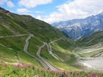 meters above sea leavel The Stelvio Pass Italy