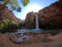 Miles Deep into the Grand Canyon Havasu Falls in Supai AZ