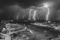 minutes of lightning in one photo - Phoenix Arizona - August th