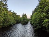 minutes walk from the town center of Inverness and you see this beauty Ness River Inverness Scotland