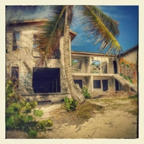 months ago I explored this site for you guys Google took one of my pictures and enhanced it so I wanted to share it album in comments Abandoned Hotel Le Galion Baby Beach St Maarten