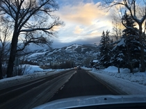 Morning drive up to Steamboat Resort CO x
