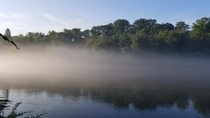 Morning Fog on the Hootch in Roswell GA