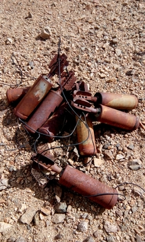 Mortar Bombs abandoned from the  Indo - China war