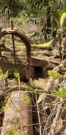 Mount Hood National Forest - An old shack part of a possible mining operation