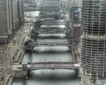 Moving Bridges over the Chicago River - Chicago