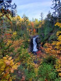 My favorite lesser known waterfall Always quiet even during peak fall colors