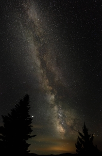 My first attempt at shooting the Milky Way bear Copper Mountain Colorado