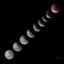 My first lunar eclipse composition from Buenos Aires Argentina st January
