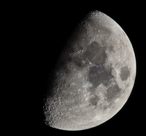 My first serious attempt at capturing a decent photo of the Moon