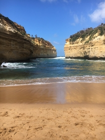 My personal getaway hidden beneath the cliffs Great Ocean Road Victoria Australia