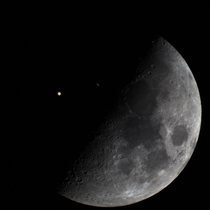My Pictures of the Conjunction and Moon from the same Night at the same Focal Length to show how close Saturn and Jupiter were