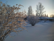 My windows view at noon in Oulu city Finland