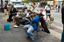 New Orleans - no shortage of live music in the French Quarter These look serious but were also enjoying it themselves