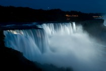 Night view of Niagara Falls by Victor Shilo