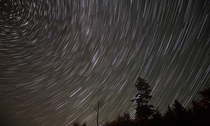 North Star and the beautiful star trails - White Mountains New Hampshire