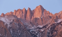 of morning glory Mount Whitney as viewed from the Alabama Hills Eastern Sierra California USA