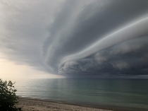 on Lake Huron the last  days Made for a beauty storm cell