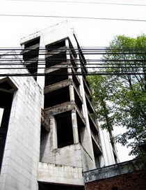 Pablo Escobars  story condominium ca s Medellin Colombia - note has since been demolished