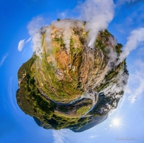 Panorama view of the Valley of Geysers Kamchatka Russia Photo by Dmitry Moiseenko and Stanislav Sedov