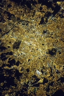 Paris at Night from the International Space Station