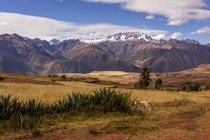 Peruvian highlands near Urubamba shot at almost  feet  x