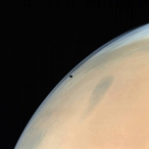 Phobos captured by Indias Mars Orbitter Mission