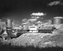 photograph of the just completed Rocket Engine Test Facility