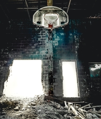 photos from inside the Dunjee High School Gymnasium - Spencer Oklahoma