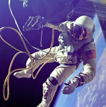 picture of Edward H White II space walk - Gemini  mission