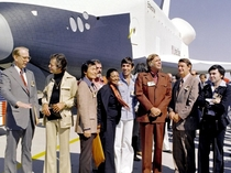 public unveiling of the NASA prototype Space Shuttle Enterprise - On hand were crew members of the original ship USS Enterprise NCC-